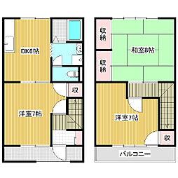 [テラスハウス] 長野県松本市笹部 の賃貸【/】の間取り