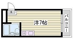 兵庫県明石市松が丘北町の賃貸マンションの間取り