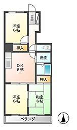 ベルエポックOGAWA[4階]の間取り