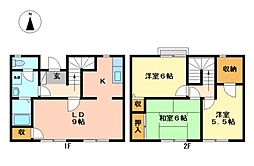 [一戸建] 栃木県宇都宮市一の沢2丁目 の賃貸【/】の間取り
