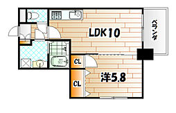 ERIOS COURT 中津口[3階]の間取り