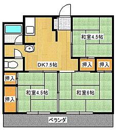 浜町マンション[3階]の間取り