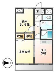 第3エステート丸万[2階]の間取り
