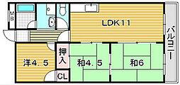 グリーンメゾン岡本[3階]の間取り