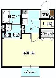バス 遠鉄バスさいが崖下車 徒歩2分の賃貸アパート 1階1Kの間取り