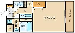 スペチアーレ 桜ケ丘 8階1Kの間取り