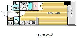 エスライズ新神戸[7階]の間取り