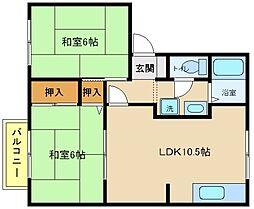 兵庫県明石市硯町3丁目の賃貸アパートの間取り