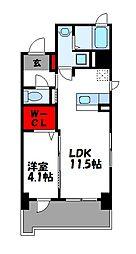JR篠栗線 柚須駅 徒歩24分の賃貸マンション 3階1LDKの間取り