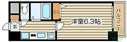 エステムコート新大阪VIIステーションプレミアム 3階1Kの間取り