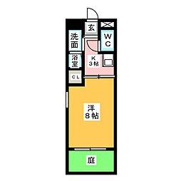 プリミエール日の宮[1階]の間取り