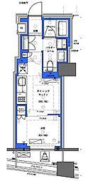 都営新宿線 小川町駅 徒歩30分の賃貸マンション 8階1DKの間取り