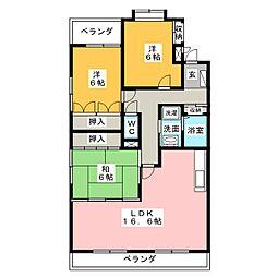 ロイヤル香久山[3階]の間取り