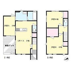 [テラスハウス] 神奈川県川崎市麻生区栗平2丁目 の賃貸【/】の間取り