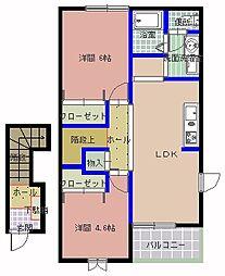 カーサコモド[2階]の間取り