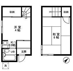 [一戸建] 東京都北区岸町2丁目 の賃貸【東京都 / 北区】の間取り