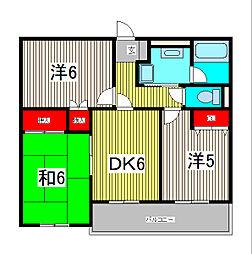 須賀第1ハイツ[1階]の間取り