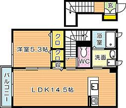 エスタシオンI[2階]の間取り