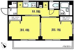 シーサイド江ノ島[1階]の間取り