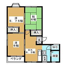 レジデンスタキグチ[2階]の間取り