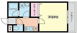 小雀レジデンス[1階]の間取り