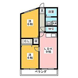 サンハイム的場[2階]の間取り