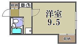 大阪府大阪市福島区玉川2丁目の賃貸アパートの間取り