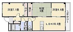 泉北高速深井駅徒歩22分[205号室]の間取り