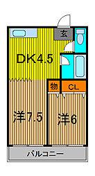 富士ハイム[1階]の間取り