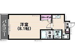 グレートフル南福岡[1階]の間取り
