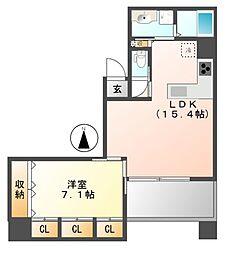 大須APARTMENT(アパートメント)[6階]の間取り