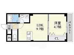 Satsuma-1st 1階1LDKの間取り