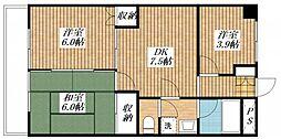 ガーデンヒル石川[302号室]の間取り