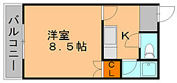 福岡県福岡市博多区春町2丁目の賃貸アパートの間取り