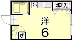 ハイツ三宅[203号室号室]の間取り