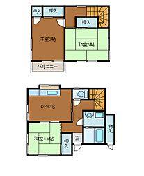 [一戸建] 神奈川県座間市相模が丘4丁目 の賃貸【/】の間取り