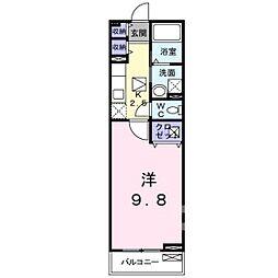 岡山電気軌道東山本線 門田屋敷駅 徒歩33分の賃貸アパート 1階1Kの間取り