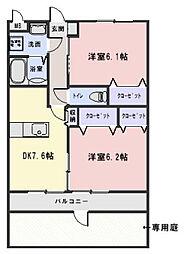 ファームガーデンA棟[205号室]の間取り