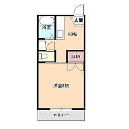 コーポチエ[2階]の間取り