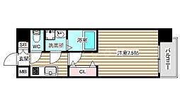 S-RESIDENCE福島grande 6階1Kの間取り