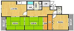 京都府宇治市六地蔵徳栄の賃貸マンションの間取り