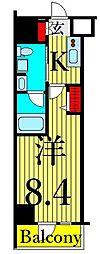 東京メトロ日比谷線 南千住駅 徒歩8分の賃貸マンション 3階1Kの間取り
