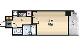 リーガル北梅田[9階]の間取り