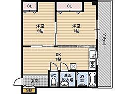 マンション樅[2階]の間取り