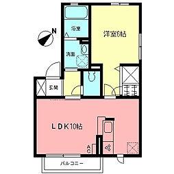 グリーンKIII[2階]の間取り