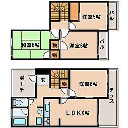 [タウンハウス] 兵庫県神戸市西区今寺 の賃貸【/】の間取り