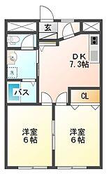 ガーデンヒルズ八千代[3階]の間取り
