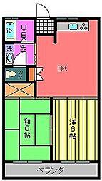 コーポラスノーブル[1階]の間取り
