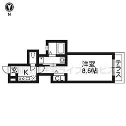 セブンスヘヴン黒門三条[305号室]の間取り