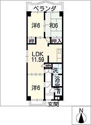 熱田マンション[5階]の間取り